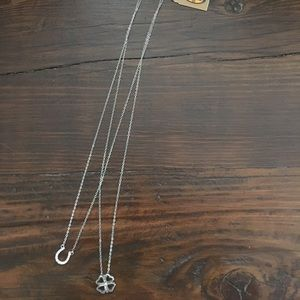 Fossil best friends stainless steel necklace set